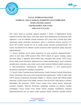 3.İDK Teknik Komite Toplantısı