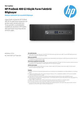 HP ProDesk 400 G3 Küçük Form Faktörlü Bilgisayar