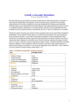 Gebelik ve Karaciğer Hastalıkları