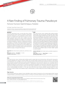 A Rare Finding of Pulmonary Trauma: Pseudocyst