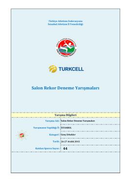 Genç Erkekler - Türkiye Atletizm Federasyonu