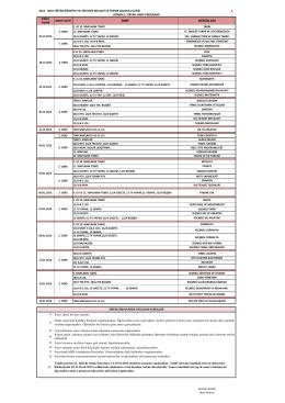 2015 - 2016 eğitim öğretim yılı 1. dönem 2. ortak sınav programı