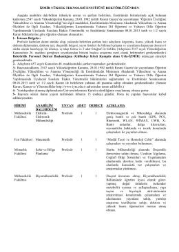 Öğretim Üyesi Alım İlanı - İzmir Yüksek Teknoloji Enstitüsü