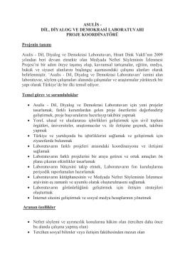 ASULİS - DİL, DİYALOG VE DEMOKRASİ
