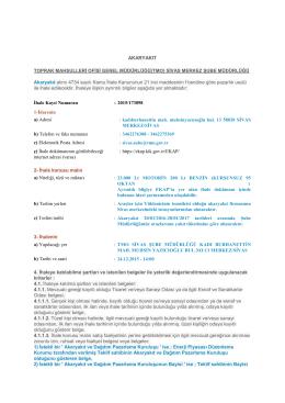 SİVAS MERKEZ ŞUBE MÜDÜRLÜĞÜ Akaryakıt alımı 4734