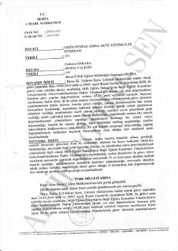 Esastan iptal kararı 2015/958 Bursa2 için tıklayınız