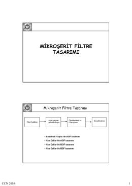 mikroşerit filtre tasarımı
