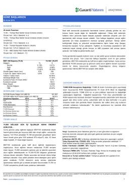 araştırma - Garanti Yatırım