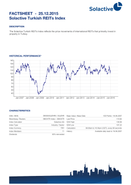 FACTSHEET - Solactive Turkish REITs Index 25.12.2015