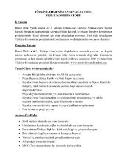 Türkiye-Ermenistan Seyahat Fonu Proje