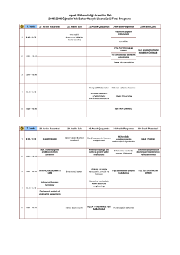 İnşaat Mühendisliği Anabilim Dalı 2015