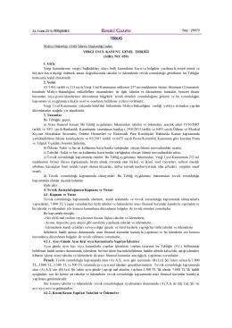 459 Sıra No.lu Vergi Usul Kanunu Genel Tebliği