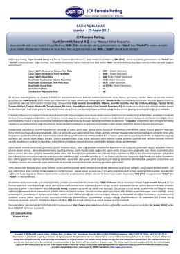 JCR Eurasia Rating, Uşak Seramik Sanayi A.Ş.