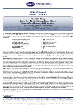 JCR Eurasia Rating, Beykoz Doğa Öğretim Yatırım ve Ticaret A.Ş.