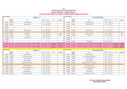 2015-2016 I. Dönem - İnşaat Bölümü Final Sınav Programı için