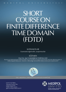 OCA 2 Short Course on Finite Difference Time