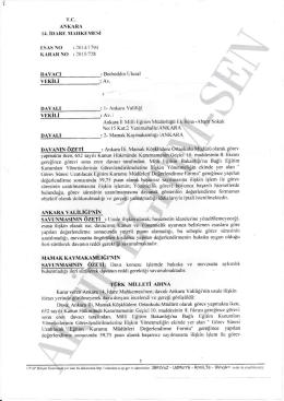 Esastan iptal kararı 2015/728 Ankara14 için tıklayınız
