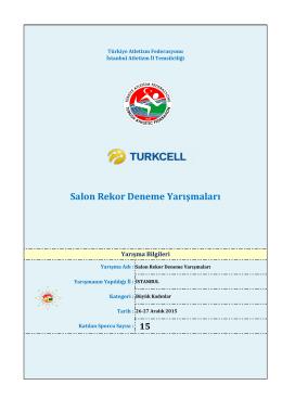 Büyük Kadınlar - Türkiye Atletizm Federasyonu