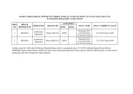 Sınav ilanı - Isparta Orman Bölge Müdürlüğü