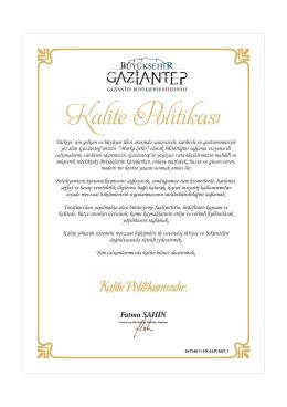 Fatma ŞAHİN - Gaziantep Büyükşehir Belediyesi