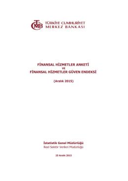 finansal hizmetler anketi finansal hizmetler güven endeksi
