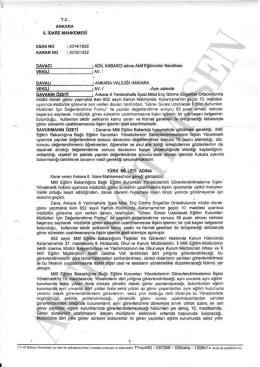 Esastan iptal kararı 2015/1422 Ankara6 için tıklayınız
