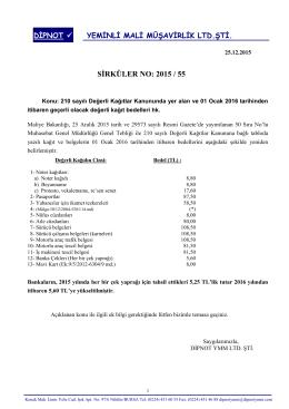 sırk 2015-55 2016 yılında uygulanacak değerli kağıt