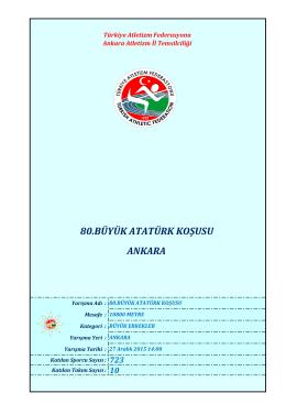 ankara - Türkiye Atletizm Federasyonu