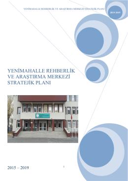Stratejik Plan - YENİMAHALLE - Yenimahalle Rehberlik ve
