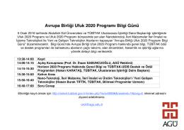 Avrupa Birliği Ufuk 2020 Programı Bilgi Günü