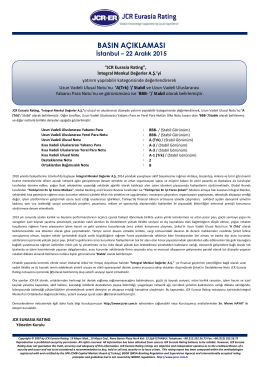 JCR Eurasia Rating, İntegral Menkul Değerler A.Ş.