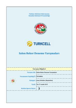 Genç Erkek Heptatlon - Türkiye Atletizm Federasyonu