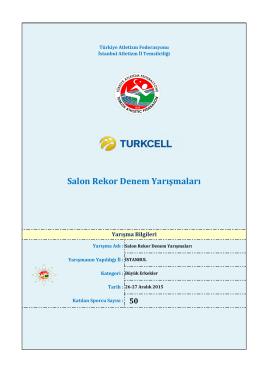 Bayrak Takımlar - Türkiye Atletizm Federasyonu