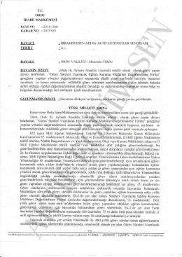 Esastan iptal kararı 2015/935 Ordu için tıklayınız