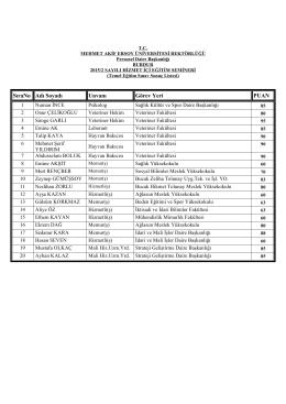 2015-2 Temel Eğitim Sınavı Sonuçları