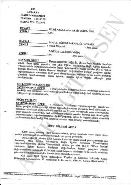 Esastan iptal kararı 2015/975 Aksaray için tıklayınız