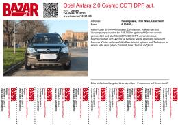 Opel Antara 2.0 Cosmo CDTI DPF aut.