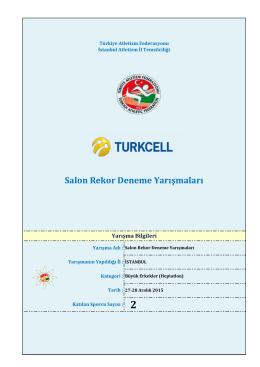 Büyük Erkek Heptatlon - Türkiye Atletizm Federasyonu
