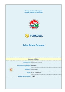 Yıldız Kızlar - Türkiye Atletizm Federasyonu