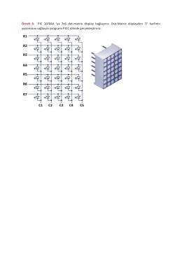 Örnek 5: PIC 16F84A `ya 7x5 dot-matrix display bağlayınız. Dot