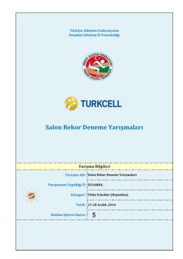Yıldız Erkek Heptatlon - Türkiye Atletizm Federasyonu