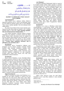 18.12.2015 Tarihli Hutbe - Diyanet İşleri Başkanlığı
