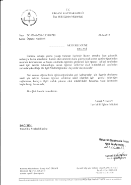 Yazı - Ergani İlçe Milli Eğitim Müdürlüğü