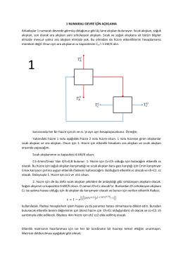 1 Numaralı devre için ek Açıklama