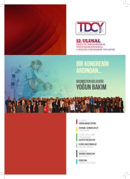 YOĞUN BAKIM - Türk Dahili ve Cerrahi Yoğun Bakım Derneği