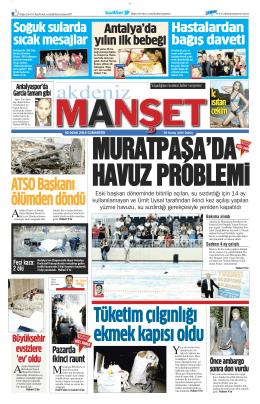ATSO Başkanı ölümden döndü - Antalya Haber - Haberler