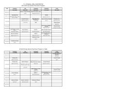 2015-2016 Güz dönemi Final Sınav Programı 2. Hafta T.C.