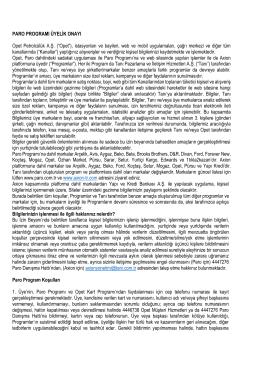 """PARO PROGRAMI ÜYELİK ONAYI Opet Petrolcülük A.Ş. (""""Opet"""