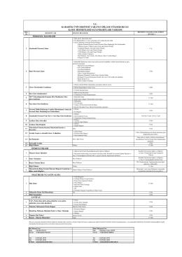 hizmet standartları - Karabük Üniversitesi