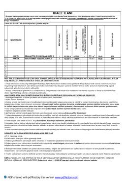 ihale ilanı .22,10,2015 - Çukurova İlçe Milli Eğitim Müdürlüğü
